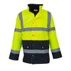 Yoko Hi Vis Two Tone Motorway Jacket Fully Waterproof Coat