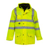 Yoko Hi Vis Multi-Function 7-in-1 Premium Waterproof Coat Hi-Vis Yellow
