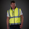 Yoko Hi Vis Softshell Premium Waterproof Gilet Hi-Vis Yellow / Navy