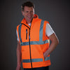 Yoko Hi Vis Softshell Premium Waterproof Gilet Hi-Vis Orange