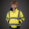 Yoko Children's Yellow Hi Vis Bomber Jacket Hi-Vis Yellow