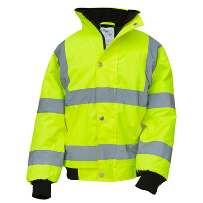 Yoko Children's Yellow Hi Vis Bomber Jacket