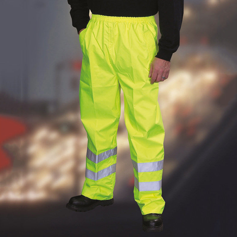 Yoko Waterproof Hi Vis Over Trousers Hi-Vis Yellow / S