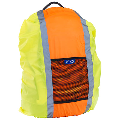 Yoko Hi Vis Reflective Waterproof Bag Cover Hi-Vis Yellow / Hi-Vis Orange