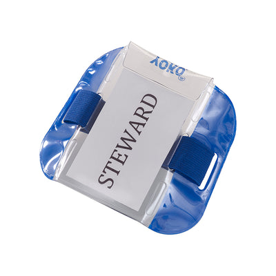 Yoko ID Armband Badge Hi Vis Waterproof Security Card Holder Blue