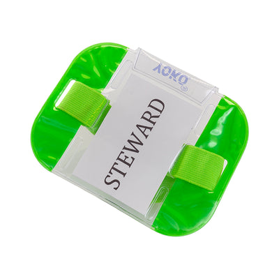 Yoko ID Armband Badge Hi Vis Waterproof Security Card Holder Fluorescent Green
