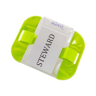 Yoko ID Armband Badge Hi Vis Waterproof Security Card Holder Fluorescent Yellow