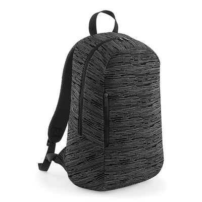 BagBase BG198 Duo Knit Backpack Grey / Black