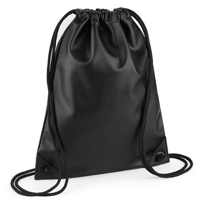 BagBase Faux Leather Gymsac Black