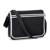 BagBase Retro Messenger Bag Black / White