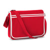 BagBase Retro Messenger Bag Classic Red / White