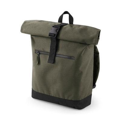 BagBase BG855 Roll-Top Backpack Military Green