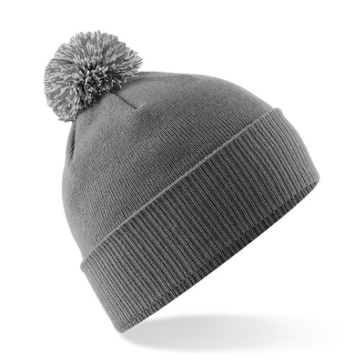 Beechfield Snowstar Beanie Graphite Grey / Light Grey