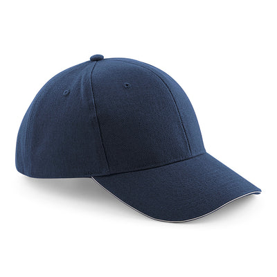 Beechfield Pro-Style Heavy Brushed Cotton Cap French Navy / Stone