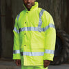 Yoko Hi Vis Contractor Waterproof Lined Coat Hi-Vis Yellow
