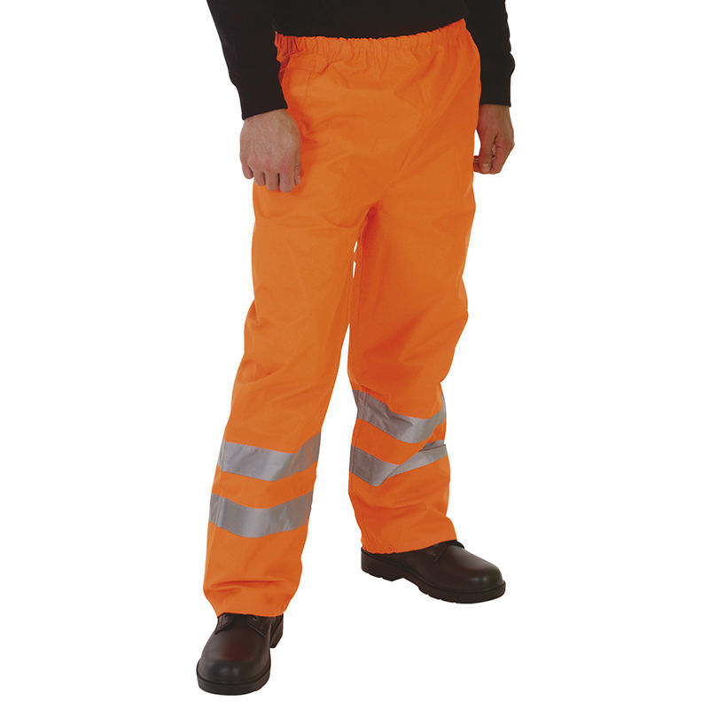 Yoko Hi Vis 3M Waterproof Orange Over Trousers Hi-Vis Orange / S