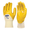 Skytec NEON Yellow Nitrile Work Wear Gloves 3/4 Coated