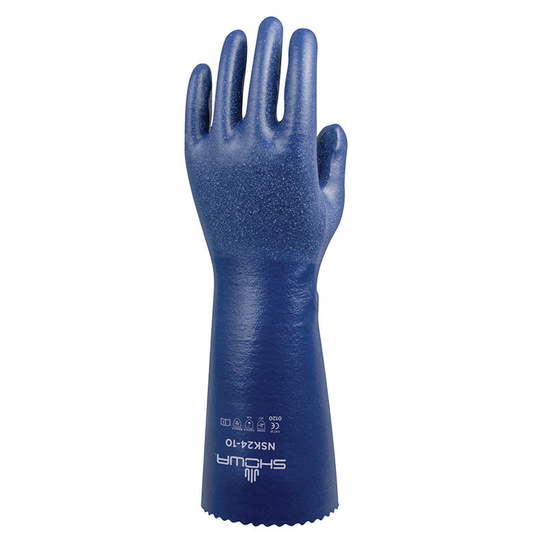 Showa NSK24 Chemical Resistant Safety Nitrile Gloves