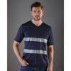 Yoko Hi Vis Top Super Cool Breathable V-Neck T-Shirt Navy