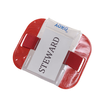 Yoko ID Armband Badge Hi Vis Waterproof Security Card Holder Red