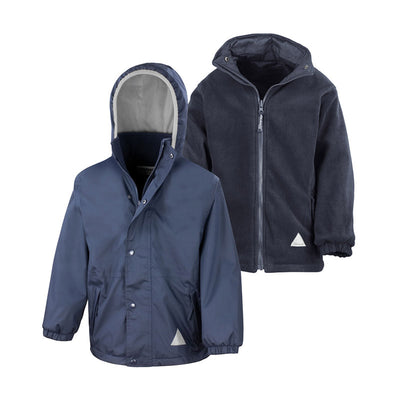 Result R160JY Children's Reversible StormDri 4000 Fleece Jacket Navy / Navy