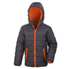 Result Core Children's Soft Padded Jacket Black / Orange