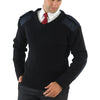 Yoko V Neck NATO Security Jumper Pilots Sweatshirt Black