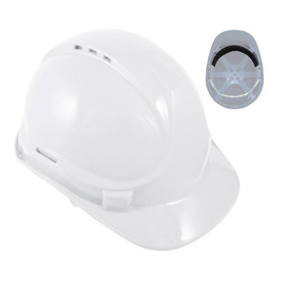 Blackrock 6 Point Safety Hard Hat White
