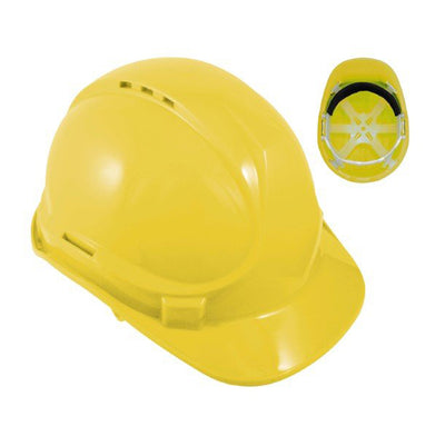 Blackrock 6 Point Safety Hard Hat Yellow