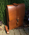 Bootlegger Backpack (Burnt Timber Leather) - The Speakeasy Leather Co
