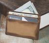 5-Slot Super Slim Front Pocket Card Sleeve Wallet - The Scratch (Burnt Timber Leather) - The Speakeasy Leather Co