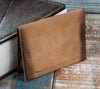 4-Slot Front Pocket Card Sleeve Wallet - The Dip (Burnt Timber Leather) - The Speakeasy Leather Co