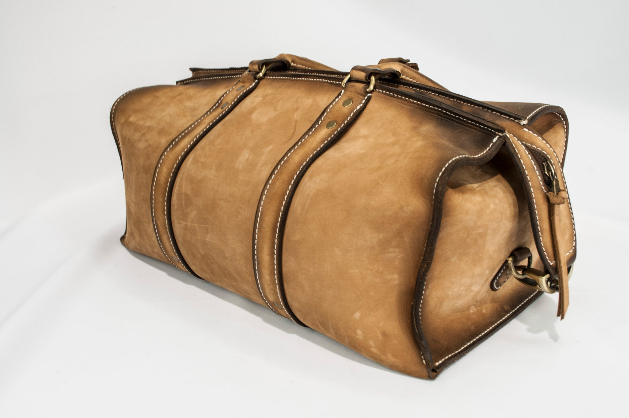 704d1e4ae3f8 1933 Weekender Duffel Bag (Tobacco Snakebite) - The Speakeasy Leather Co