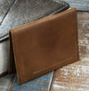 4-Slot Front Pocket Card Sleeve Wallet - The Dip (Rio Latigo Leather) - The Speakeasy Leather Co