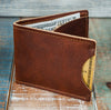 3-Slot Front Pocket Card Sleeve Wallet - 21st Amendment (Tobacco Snakebite Leather) - The Speakeasy Leather Co