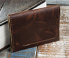 4-Slot Front Pocket Card Sleeve Wallet - The Dip (Tobacco Snakebite Leather) - The Speakeasy Leather Co