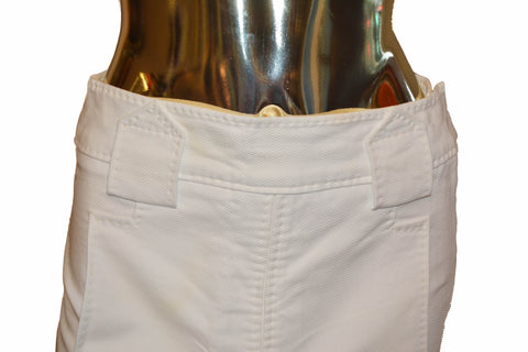 Authentic Louis Vuitton 100% Cotton White Skirt Size 38
