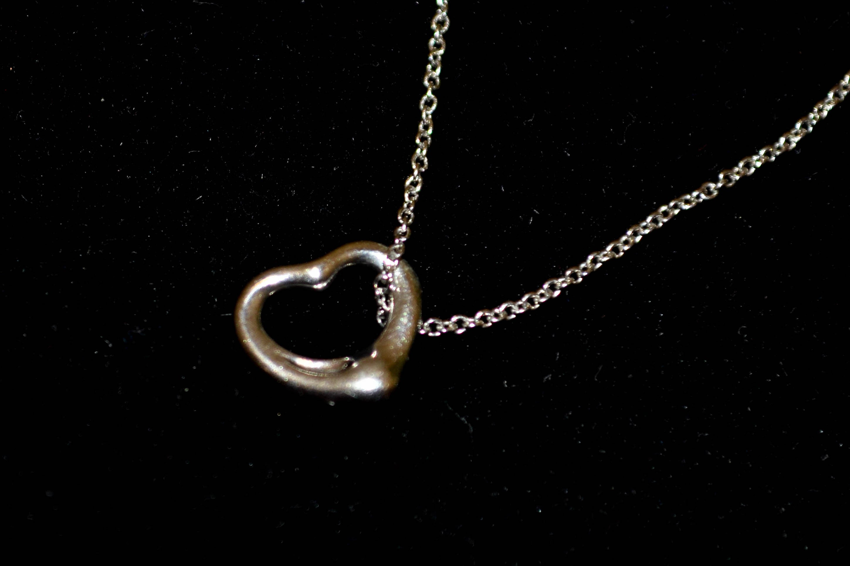 necklace more open heart half carat diamond rose gold views