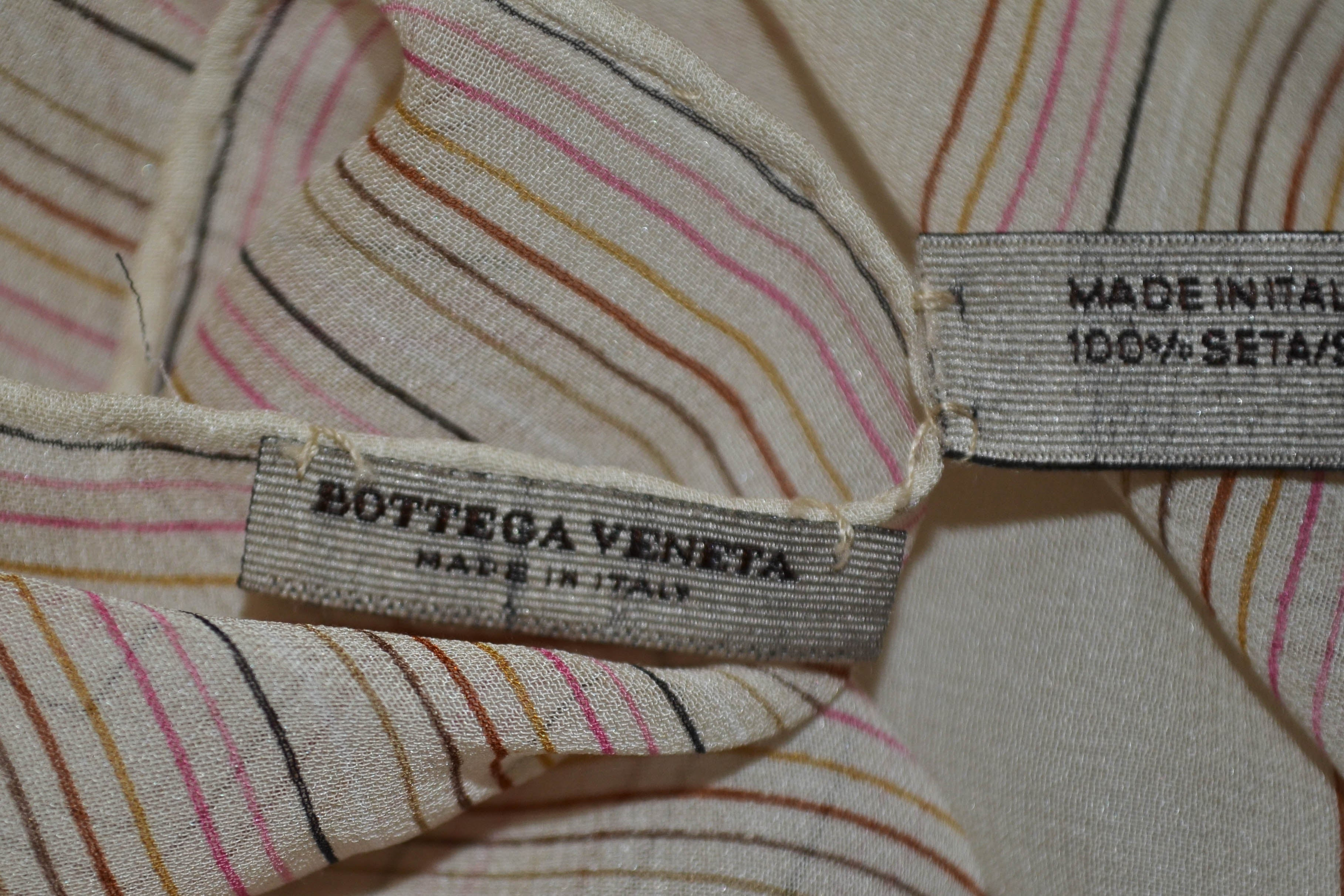 Authentic Bottega Veneta Colorful Butterfly 100% Silk Scarf