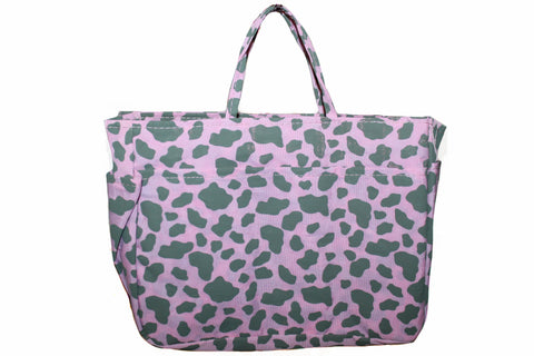 New Pink & Gray Leopard Print Small Organizer