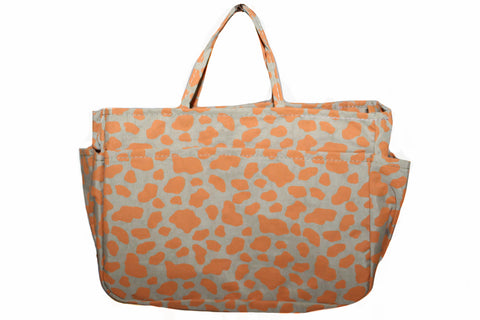 New Brown & Orange Leopard Print Small Organizer