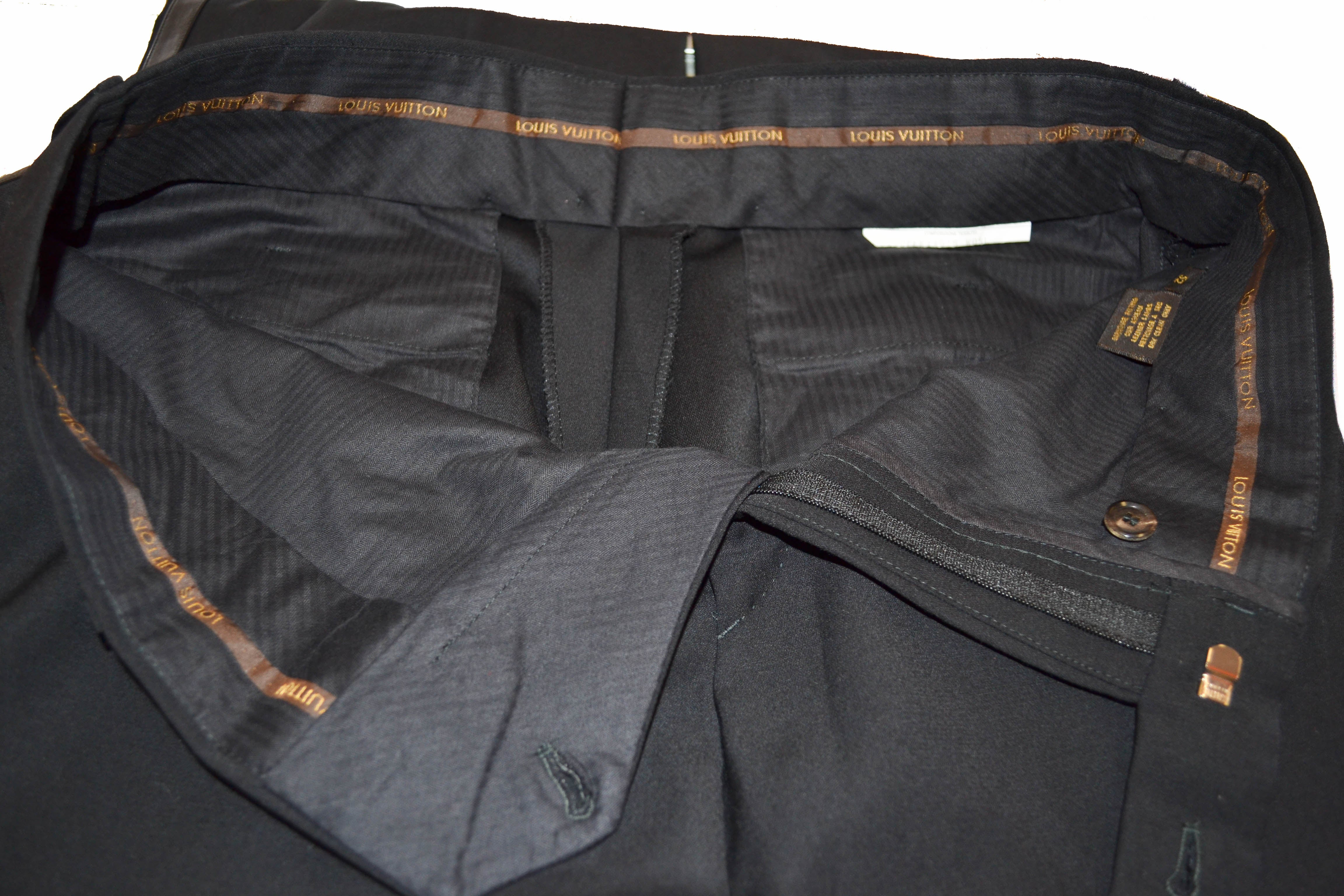 Authentic Louis Vuitton Black Pants Size 52
