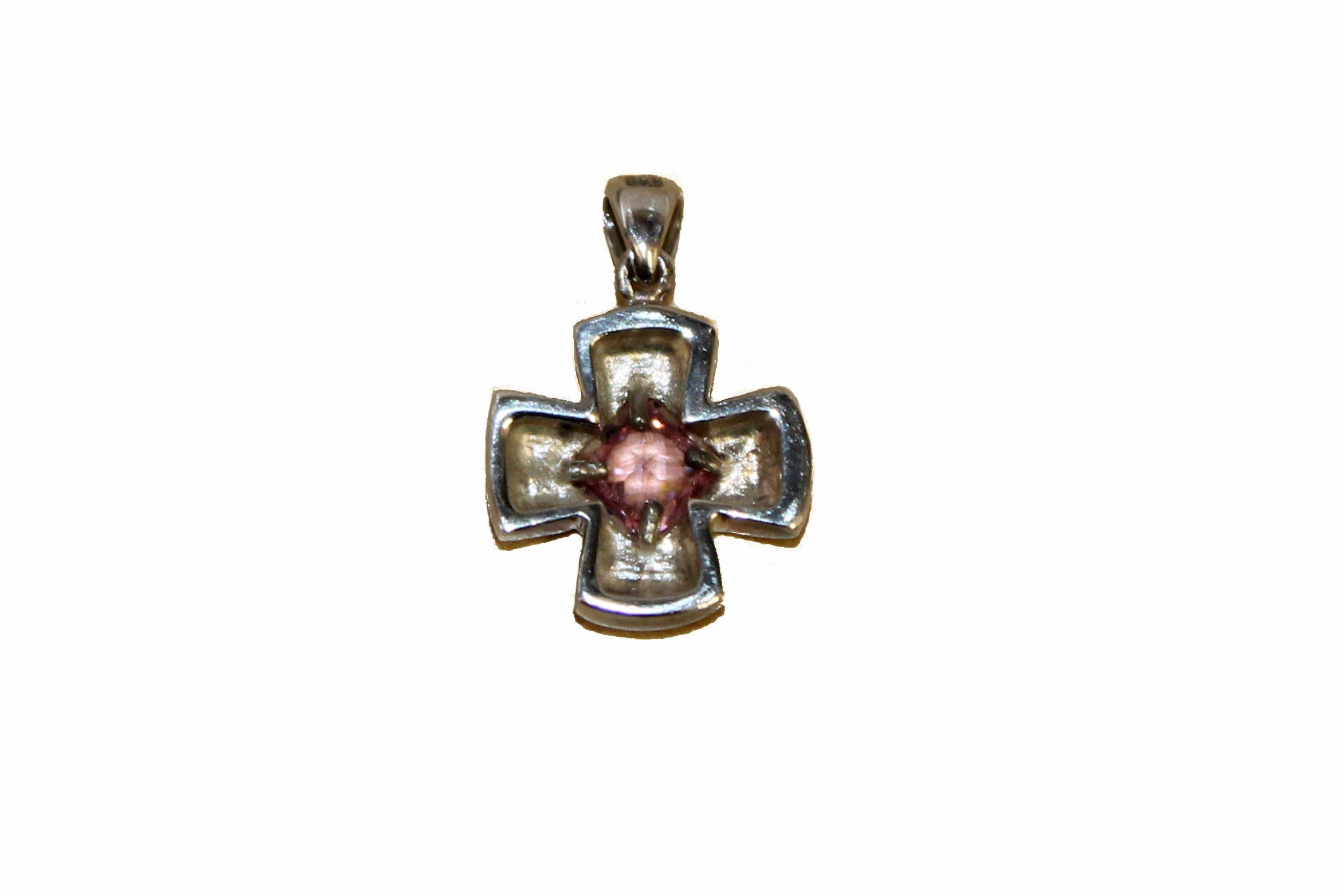 Authentic Folli Follie Sterling Silver Cross Pendant