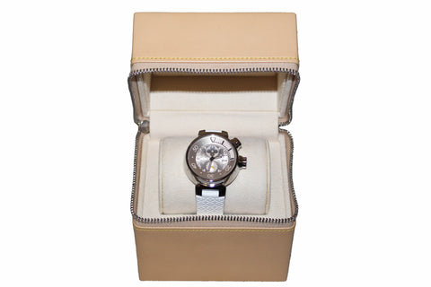 Authentic Louis Vuitton White Lovely Cup Chronograph Watch