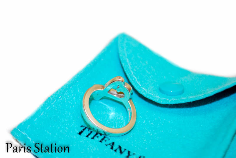 Authentic Tiffany & Co Sterling Silver Heart Ring Size 4.5