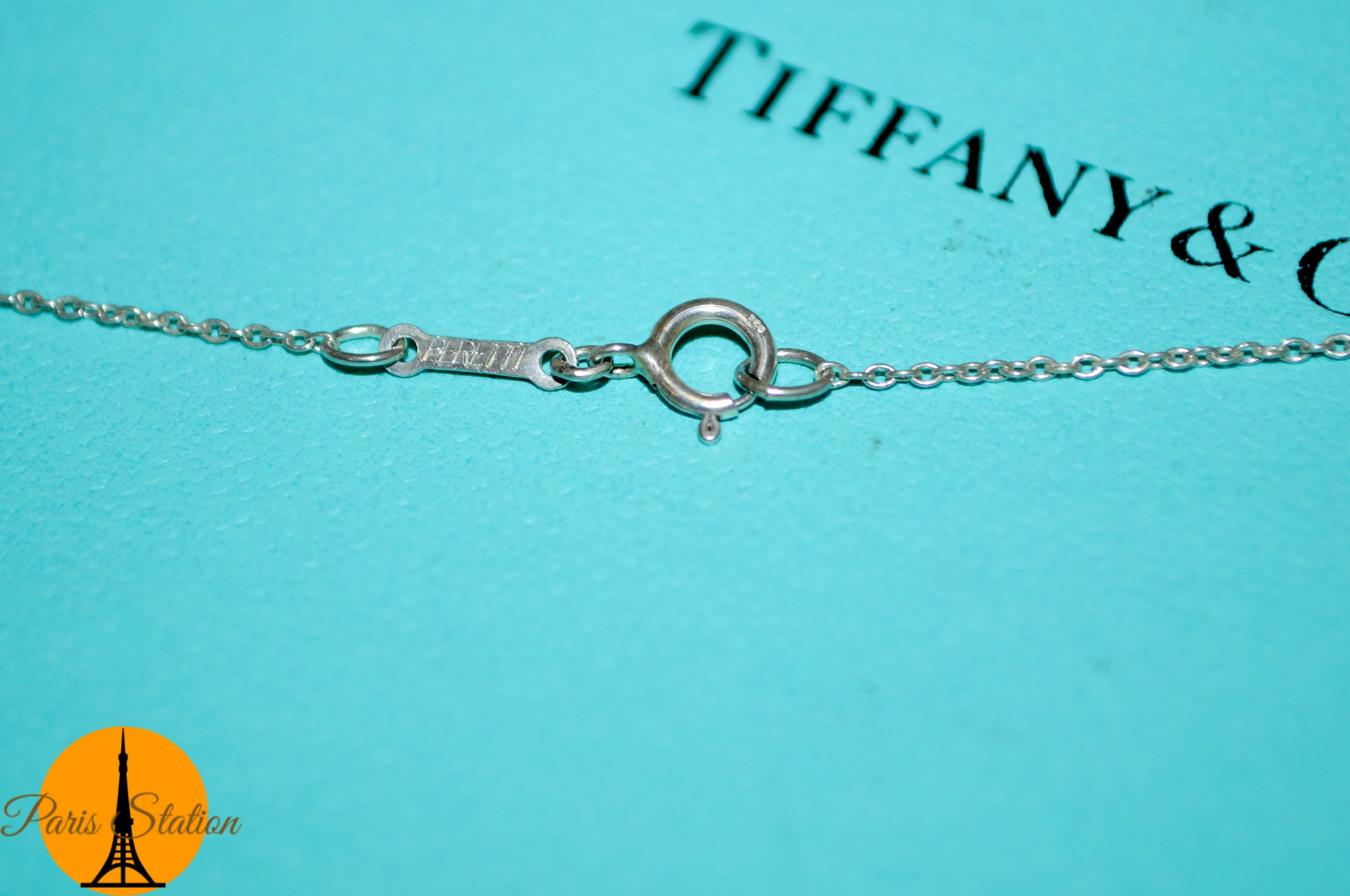 Authentic Tiffany & Co. Tear Drop Sterling Silver  Necklace
