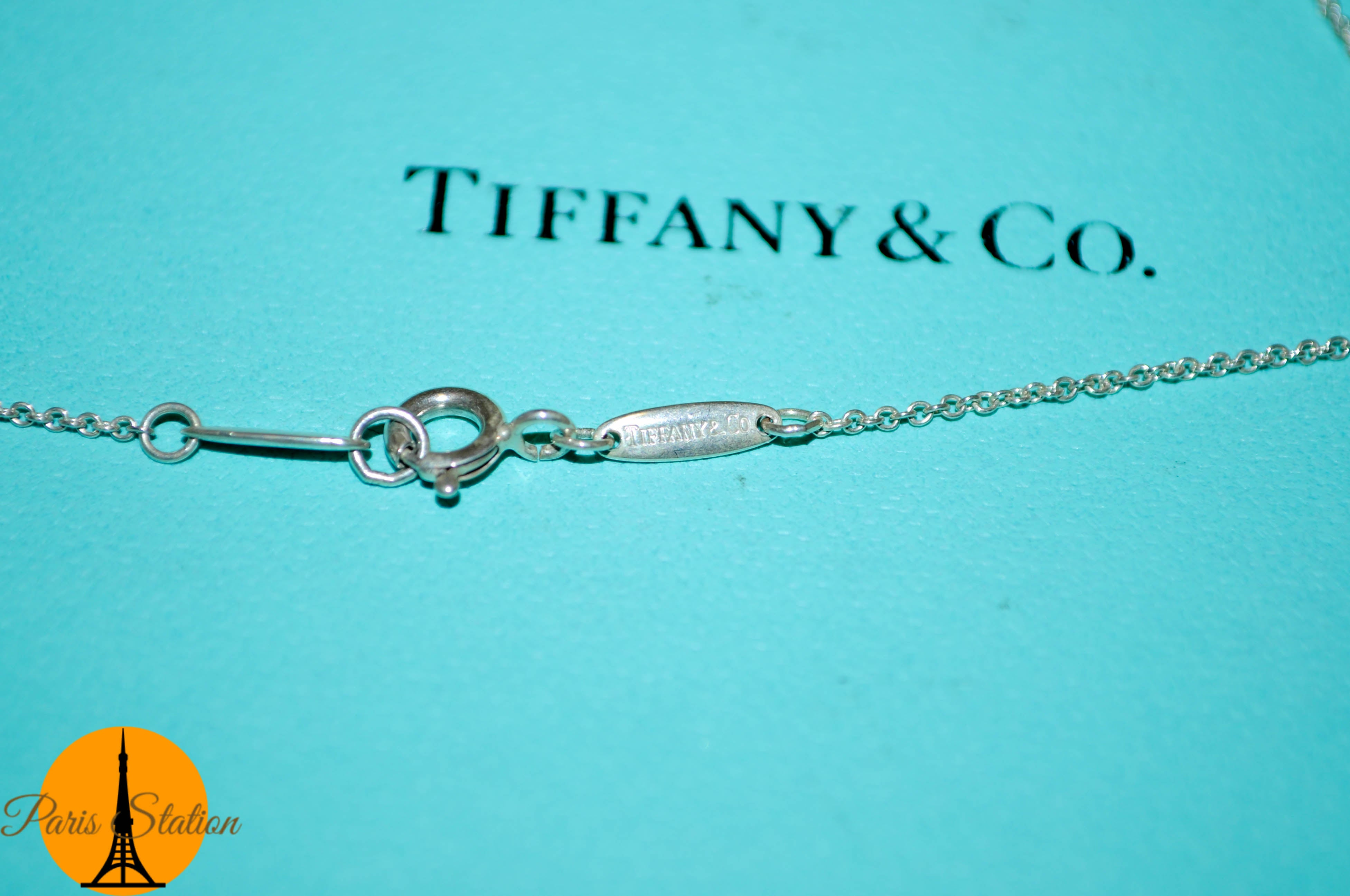 Authentic Tiffany & Co. Bean Sterling Silver Necklace
