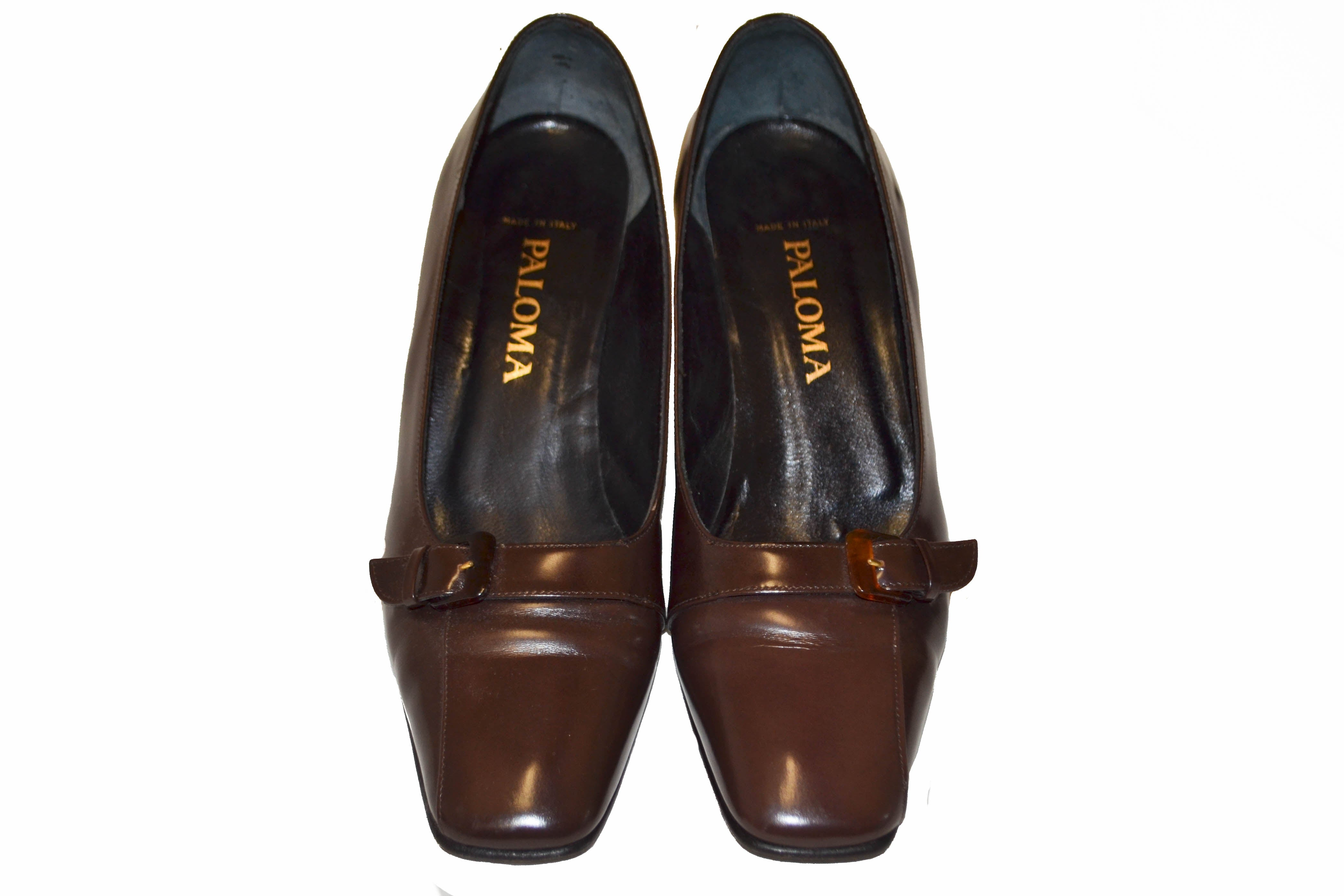Authentic Paloma Brown Leather Shoes Size 7B