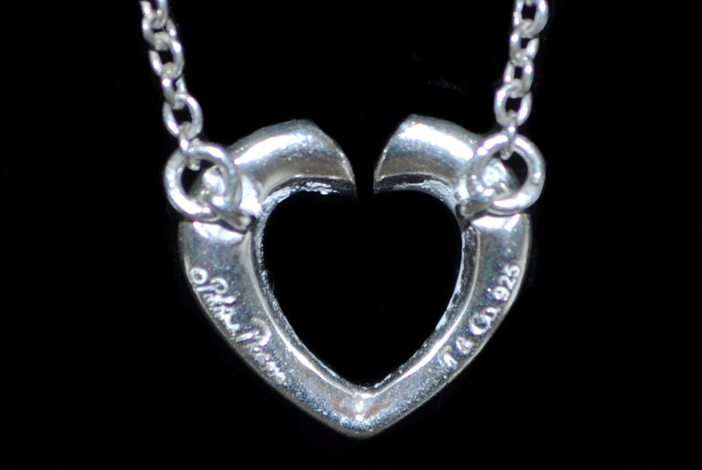 Authentic Tiffany & Co. Sterling Silver Small Heart Necklace