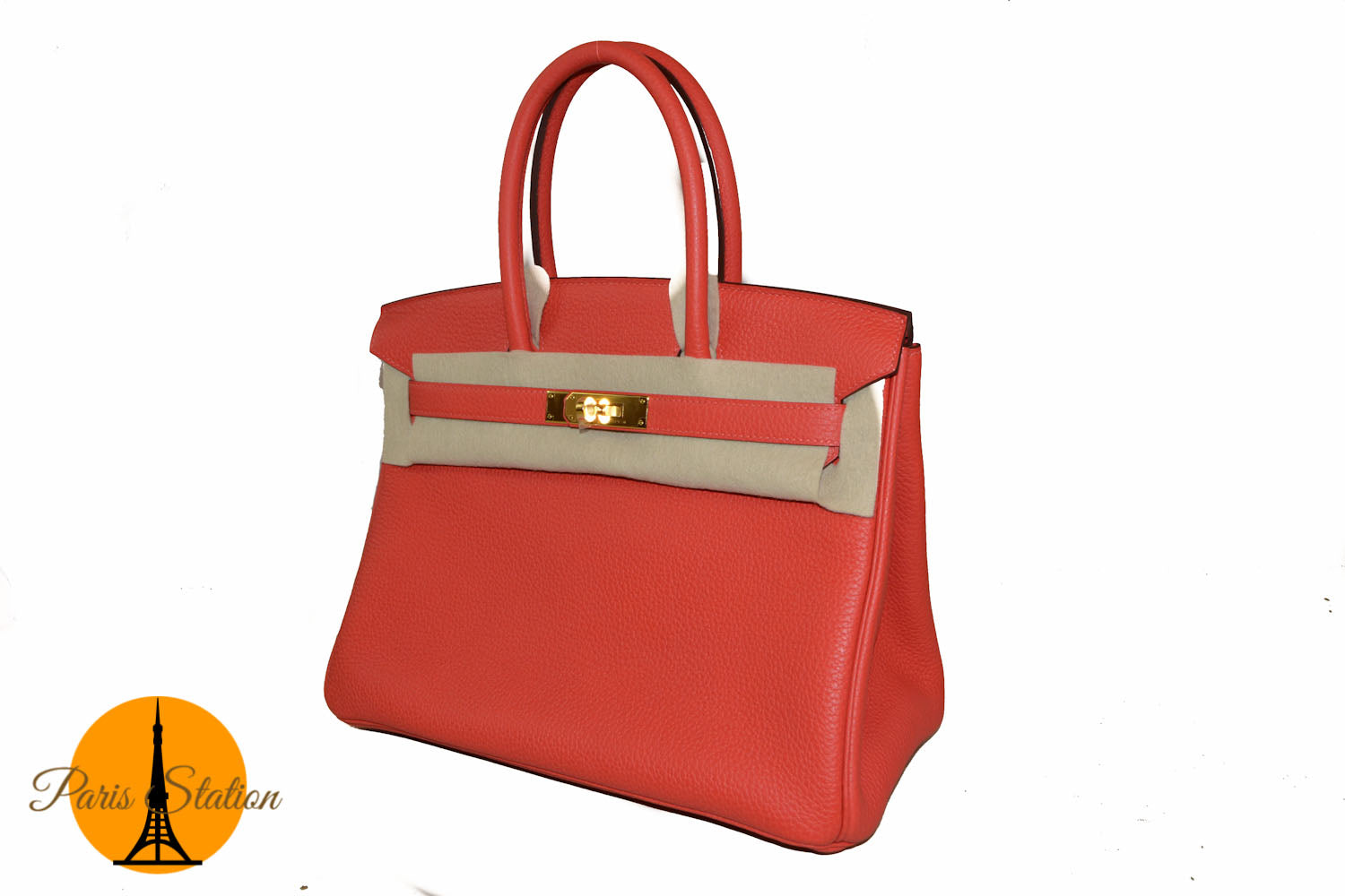 Authentic New Hermes Rouge Pivoine Togo Leather Birkin 30 Bag